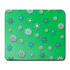 Snowflakes Winter Christmas Overlay Large Mousepads