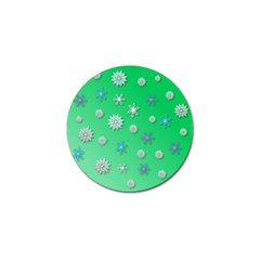 Snowflakes Winter Christmas Overlay Golf Ball Marker (10 Pack)