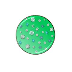 Snowflakes Winter Christmas Overlay Hat Clip Ball Marker