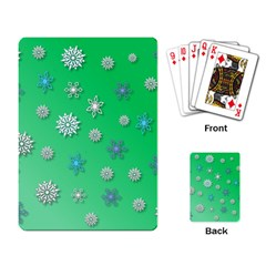 Snowflakes Winter Christmas Overlay Playing Card