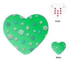 Snowflakes Winter Christmas Overlay Playing Cards (heart)