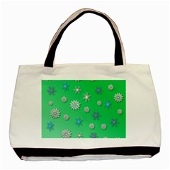 Snowflakes Winter Christmas Overlay Basic Tote Bag