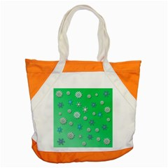 Snowflakes Winter Christmas Overlay Accent Tote Bag