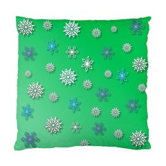 Snowflakes Winter Christmas Overlay Standard Cushion Case (two Sides)
