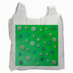 Snowflakes Winter Christmas Overlay Recycle Bag (two Side)