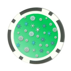 Snowflakes Winter Christmas Overlay Poker Chip Card Guard (10 Pack)