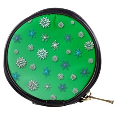 Snowflakes Winter Christmas Overlay Mini Makeup Bags