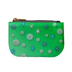 Snowflakes Winter Christmas Overlay Mini Coin Purses