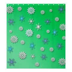 Snowflakes Winter Christmas Overlay Shower Curtain 66  X 72  (large)