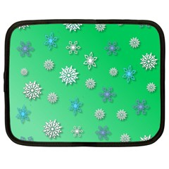 Snowflakes Winter Christmas Overlay Netbook Case (xl)