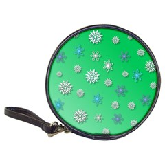 Snowflakes Winter Christmas Overlay Classic 20 Cd Wallets