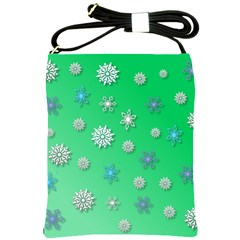 Snowflakes Winter Christmas Overlay Shoulder Sling Bags