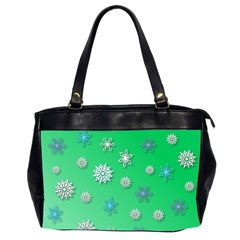 Snowflakes Winter Christmas Overlay Office Handbags (2 Sides)