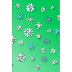 Snowflakes Winter Christmas Overlay 5.5  x 8.5  Notebooks