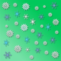 Snowflakes Winter Christmas Overlay Magic Photo Cubes