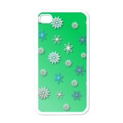 Snowflakes Winter Christmas Overlay Apple Iphone 4 Case (white)
