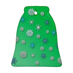 Snowflakes Winter Christmas Overlay Ornament (bell)