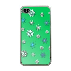 Snowflakes Winter Christmas Overlay Apple Iphone 4 Case (clear)