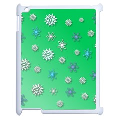 Snowflakes Winter Christmas Overlay Apple Ipad 2 Case (white)