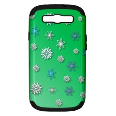 Snowflakes Winter Christmas Overlay Samsung Galaxy S Iii Hardshell Case (pc+silicone)