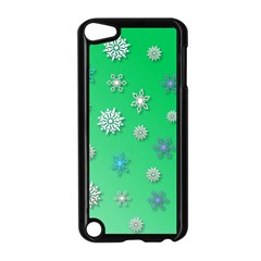 Snowflakes Winter Christmas Overlay Apple Ipod Touch 5 Case (black)