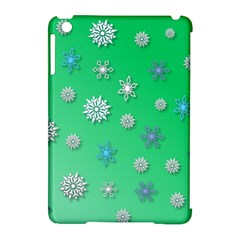 Snowflakes Winter Christmas Overlay Apple Ipad Mini Hardshell Case (compatible With Smart Cover)