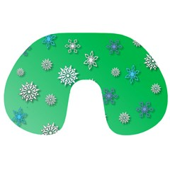 Snowflakes Winter Christmas Overlay Travel Neck Pillows