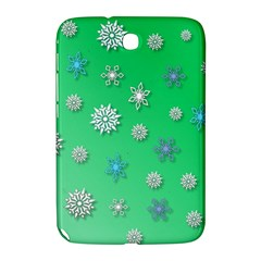Snowflakes Winter Christmas Overlay Samsung Galaxy Note 8 0 N5100 Hardshell Case