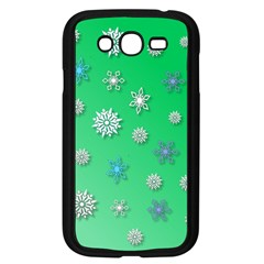 Snowflakes Winter Christmas Overlay Samsung Galaxy Grand Duos I9082 Case (black)