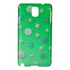 Snowflakes Winter Christmas Overlay Samsung Galaxy Note 3 N9005 Hardshell Case