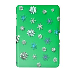 Snowflakes Winter Christmas Overlay Samsung Galaxy Tab 2 (10 1 ) P5100 Hardshell Case