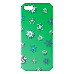 Snowflakes Winter Christmas Overlay Iphone 5s/ Se Premium Hardshell Case