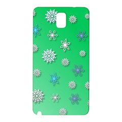 Snowflakes Winter Christmas Overlay Samsung Galaxy Note 3 N9005 Hardshell Back Case