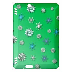 Snowflakes Winter Christmas Overlay Kindle Fire Hdx Hardshell Case