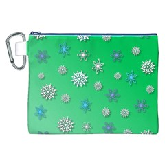 Snowflakes Winter Christmas Overlay Canvas Cosmetic Bag (xxl)