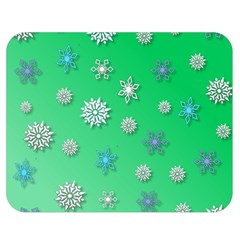 Snowflakes Winter Christmas Overlay Double Sided Flano Blanket (medium)
