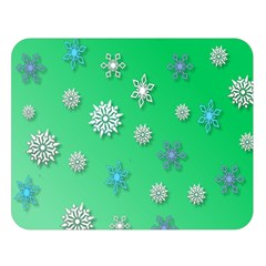 Snowflakes Winter Christmas Overlay Double Sided Flano Blanket (large)