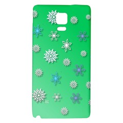 Snowflakes Winter Christmas Overlay Galaxy Note 4 Back Case