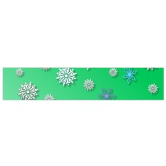 Snowflakes Winter Christmas Overlay Flano Scarf (small)