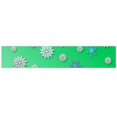 Snowflakes Winter Christmas Overlay Flano Scarf (large)