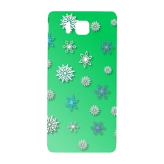 Snowflakes Winter Christmas Overlay Samsung Galaxy Alpha Hardshell Back Case