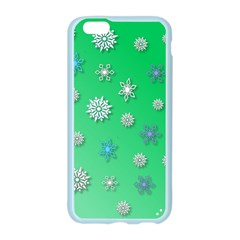 Snowflakes Winter Christmas Overlay Apple Seamless iPhone 6/6S Case (Color)