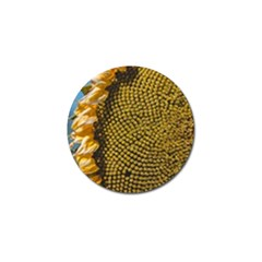 Sunflower Bright Close Up Color Disk Florets Golf Ball Marker (4 Pack)