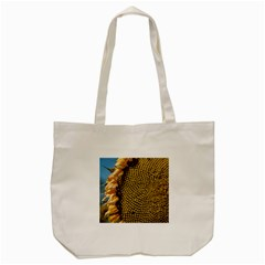Sunflower Bright Close Up Color Disk Florets Tote Bag (cream)