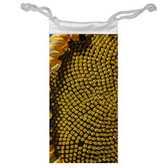 Sunflower Bright Close Up Color Disk Florets Jewelry Bag