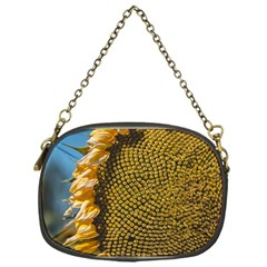 Sunflower Bright Close Up Color Disk Florets Chain Purses (one Side)