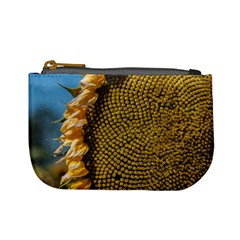 Sunflower Bright Close Up Color Disk Florets Mini Coin Purses