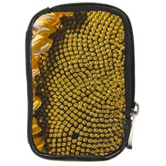 Sunflower Bright Close Up Color Disk Florets Compact Camera Cases