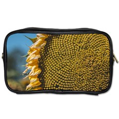 Sunflower Bright Close Up Color Disk Florets Toiletries Bags 2 Side