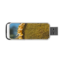 Sunflower Bright Close Up Color Disk Florets Portable Usb Flash (two Sides)